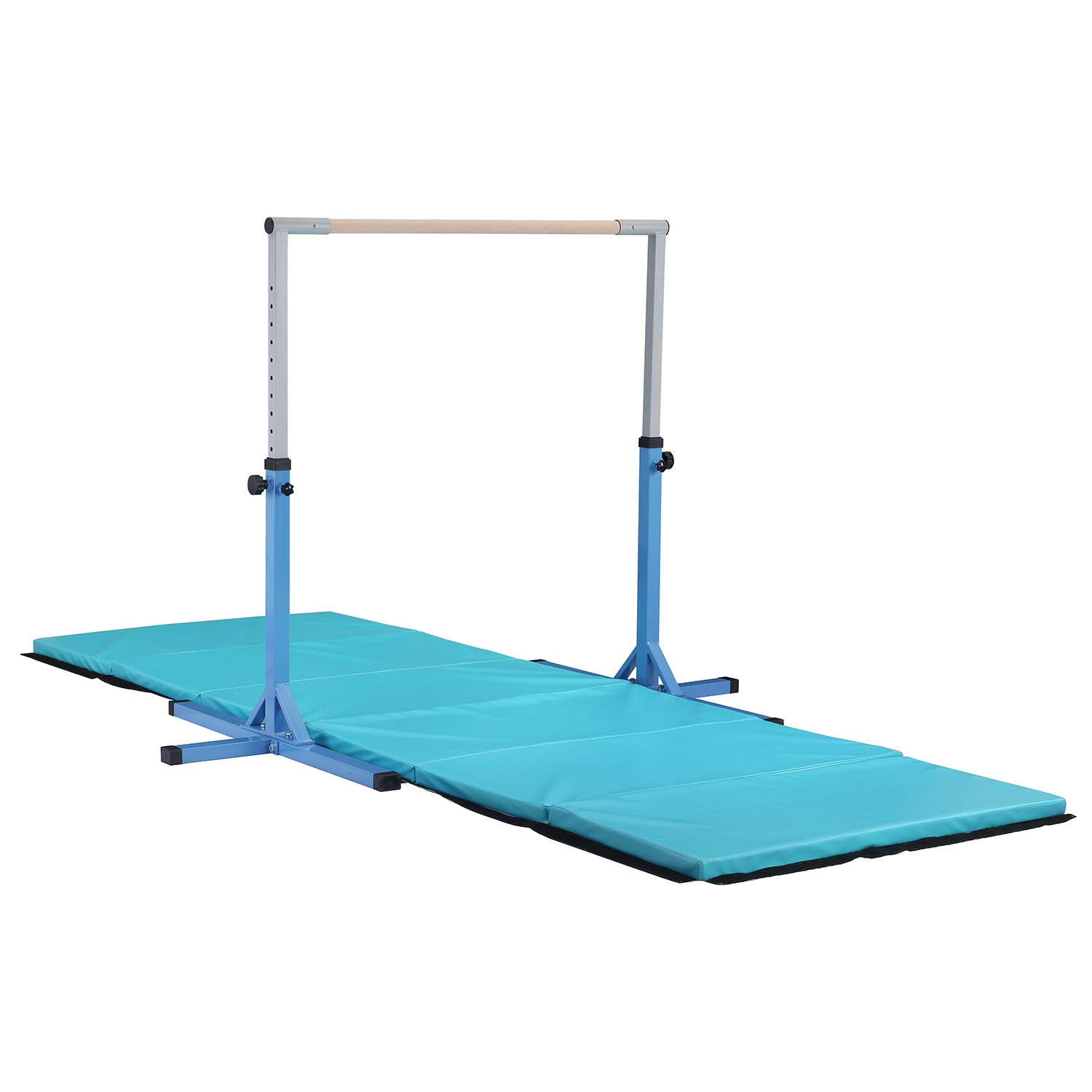 LEISURELIFE Adjustable Height Kip Bar-Fitness Gymnastics Training Horizontal Bar Blue for Boys by LEISURELIFE (Image #4)