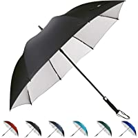 G4Free 62 Inch Windproof UV Golf Umbrella Extra Large Automatic Open Oversize Rain Repellent Stick Umbrellas Sun Protection