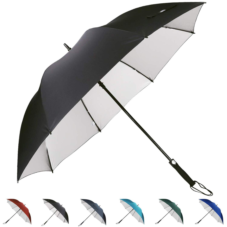 499bc61989d94 Amazon.com : G4Free 62 Inch Automatic Open Golf Umbrella Sun UV Protection  Large Oversize Windproof Waterproof Stick Umbrellas(Black) : Sports &  Outdoors