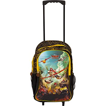 7921e35e6a7 Simba Disney Planes 18 quot  Trolley Bag Girls Black   Yellow Wheeled  Travel Backpack Rucksack