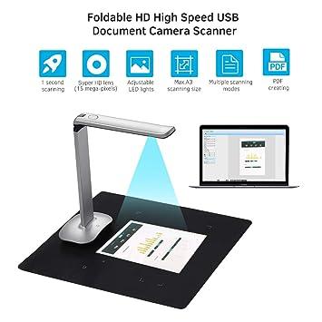Escáner De Cámara De Documentos De Libro HD USB De 15 Megapíxeles ...