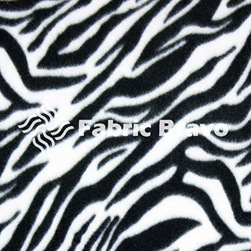 Black & White Zebra Fleece Fabric , 60