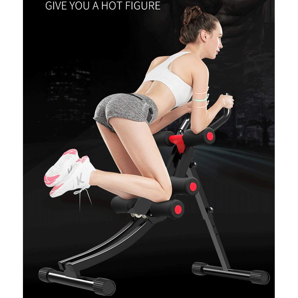 Byx- Abdominal Lazy Thin Belly Artifact Exercise Fitness Equipment Home Exercise Abdominal Muscles Men and Women Thin Waist Beauty Waist Machine -Roller Wheel (Color : A) by Byx- (Image #2)