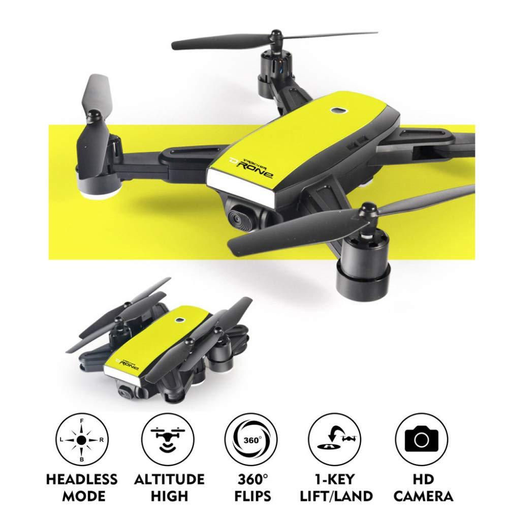 ERKEJI Drone Mando a Distancia Avión Plegable de Cuatro Ejes Presión de Aire Altura Fija Avión de Juguete Transmisión en Tiempo Real 1080P Foto aérea WiFi FPV VR