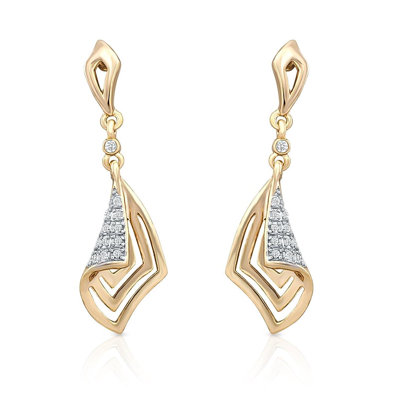 Oviya Glam Destination Crystal Pendant with Earrings for Women ...