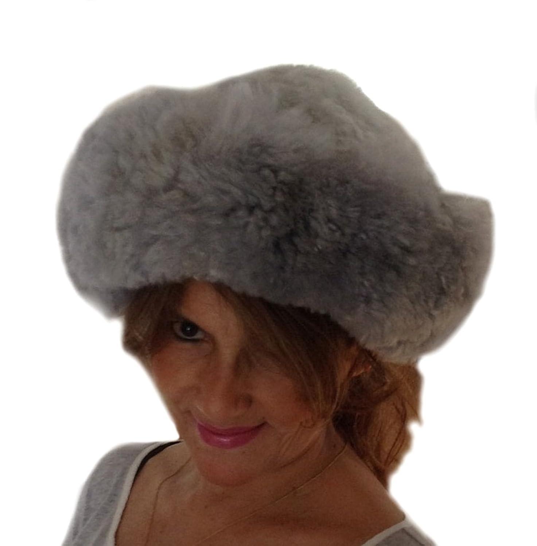 Alpacaandmore Damen Pelzmütze Babyalpaka Pelz Russische Wintermütze S-XL
