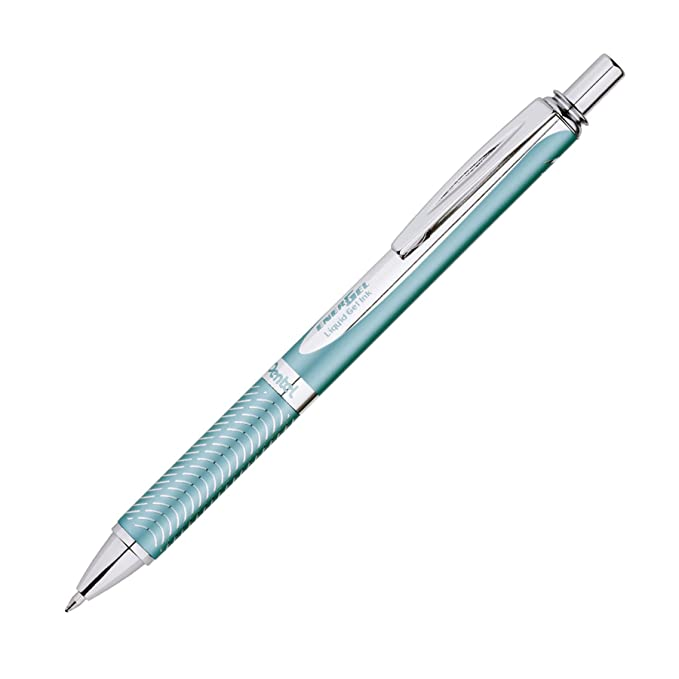 Pentel EnerGel Alloy RT Premium Gel Ink Pen, (0.7mm), Aquamarine Barrel, Black Ink, 1 Pack (BL407LSBPA) best stocking stuffers for women