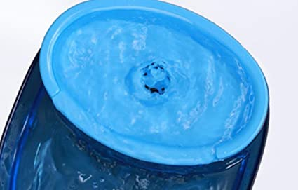 Happylittlebear Dispensador de Agua para Mascotas Pet Automático Recirculante Fuente de Waters de oxígeno (Azul