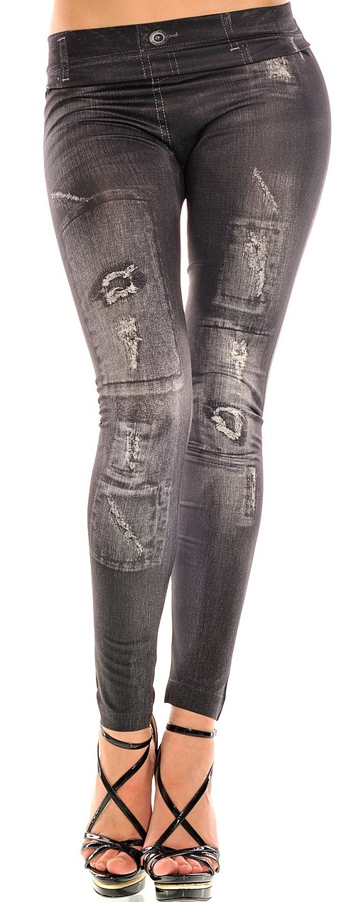 Leggings Look Jeans Balingi Destroyed BASX111 Legg0005