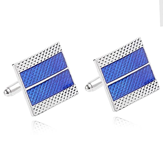 chenpaif Men Blue Square Gemelos para Camisas Smoking Business ...