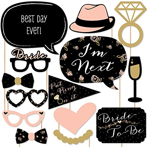 Best Day Ever - Bridal Shower & Wedding Shower Photo Booth Props Kit - 20 Count