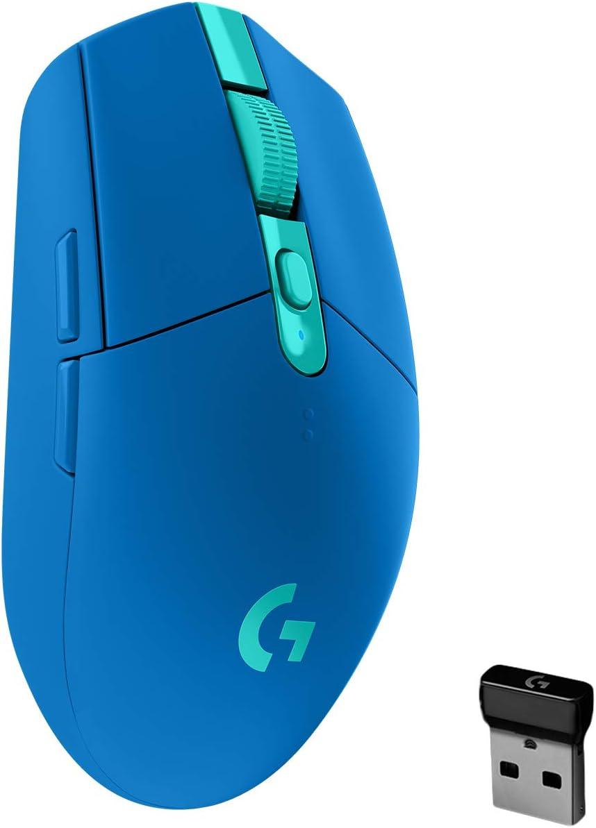 Mouse Logitech G203 LIGHTSYNC inalámbrico, color azul