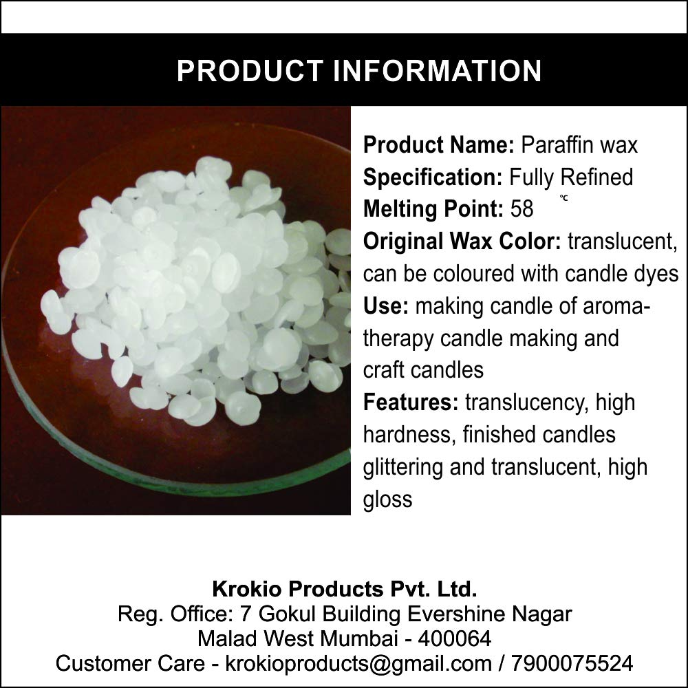 Krokio Paraffin Granules Wax 1 Kg for DIY Candle Making