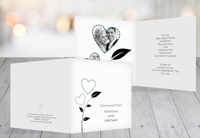 Kartenparadies Danksagung für Hochzeitsgeschenke Hochzeit Dankeskarte HerzBlaume, hochwertige Danksagungskarte Hochzeitsglückwünsche inklusive Umschläge   20 Karten - (Format  145x145 mm) Farbe  RosaRosa B01N24QJ4F | eine große Vielfal