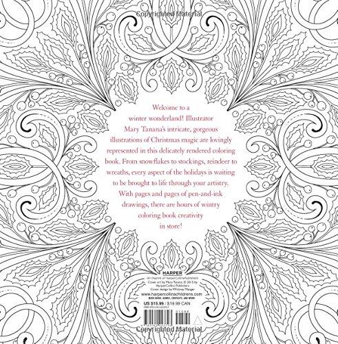 Christmas To Color Mary Tanana 9780062443793 Amazon Books