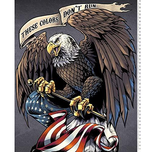 Patriotic Eagle Digital Cotton Print Fabric Panel