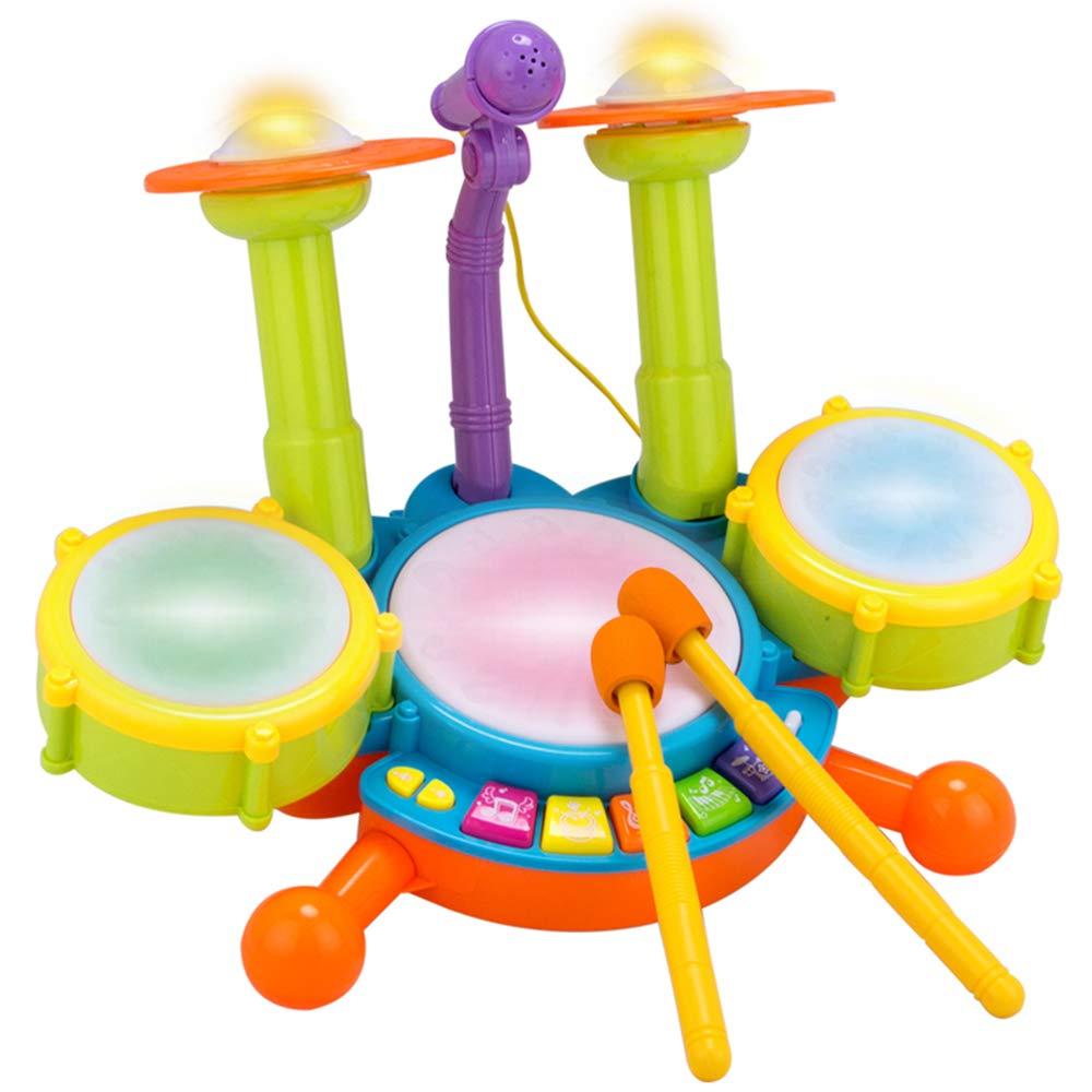connotación de lujo discreta Mitrc Conjunto de batería Musical Musical Musical para niños, Set de batería de Jazz para el bebé, Instrumento Musical de percusión electrónica, Mejor Regalo para cumpleaños de Vacaciones de Navidad  autorización