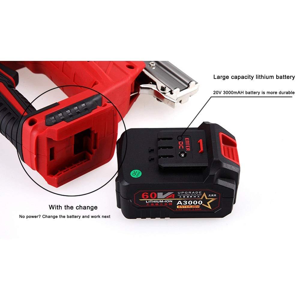 Pistola de clavos profesional industrial//2 en 1 grapadora el/éctrica potente grapadora de alta resistencia con compresi/ón bater/ía adicional 20 V m/áx