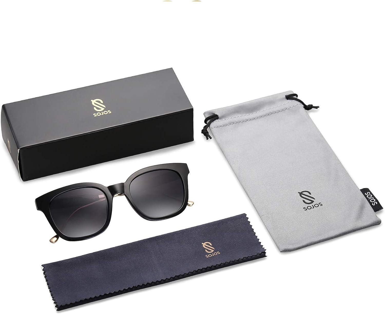 SOJOS Fashion Rechteckig Polarisierte Sonnenbrille Damen Herren in Mode SJ2050