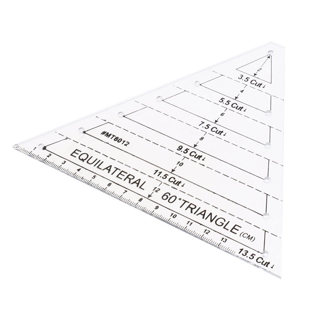 Dovewill 60 Degree Equilateral Triangle Quilting Ruler Template Total 6 Finished Size