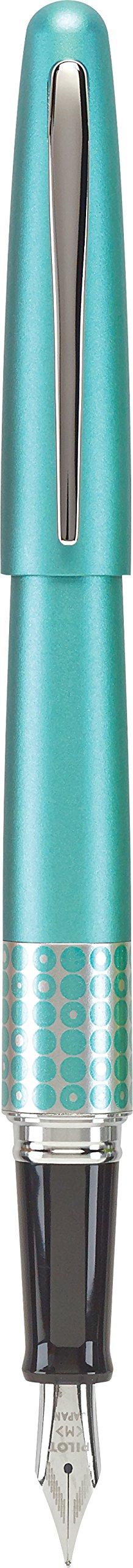 Pilot MR Retro Pop Collection Fountain Pen, Turquoise Barrel with Dots Accent, Fine Nib, Black Ink (91436) by Pilot (Image #1)
