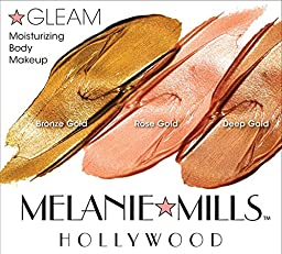 Melanie Mills Hollywood Moisturizing Gleam Body Radiance - Deep Gold, 1 fl.oz.