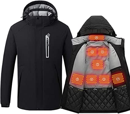 day wolf Giacca riscaldata Ricaricabile Riscaldamento Riscaldamento Abbigliamento Warm Winter Fleece Uomo Donna