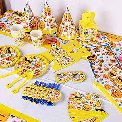 Amazon Emoji Party Supplies Set Favors Smile