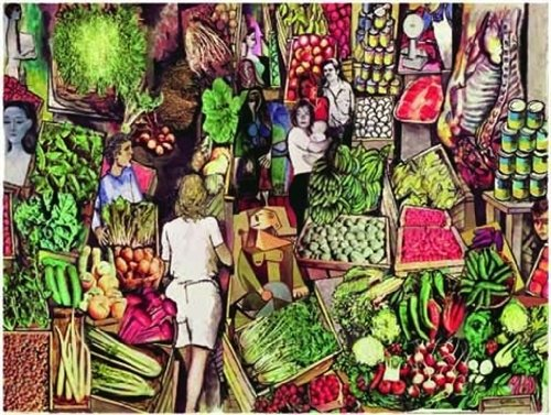 Editions Ricordi Jigsaw Puzzle 1500 pieces - Study for the market, R.Guttuso - (Cod. 34268)