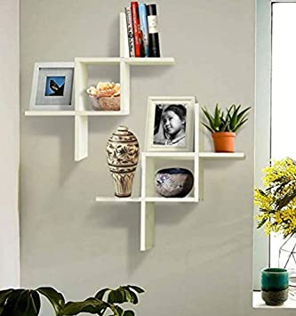 Marvelous Shelving Solution Set Of 2 Reversed Criss Cross Wall Shelf White Download Free Architecture Designs Scobabritishbridgeorg