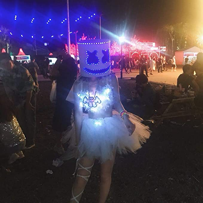 Marshmallow Mask, Music Festival Helmets, Novelty Costume Party Mask, Rubber Latex Ultra Cool Full Head Mask