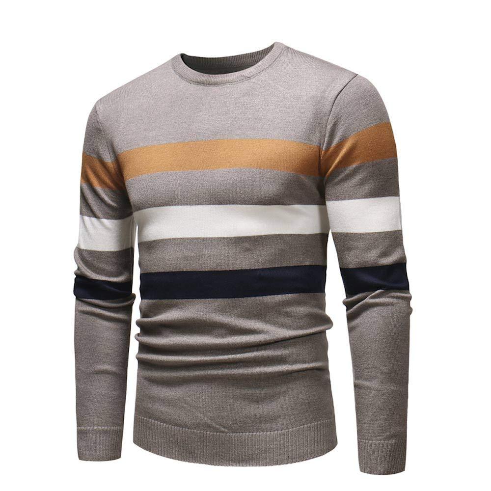 HEFEITONG Men's Autumn Winter Sweater Pullover Slim Jumper Knitwear Outwear Blouse 17.39
