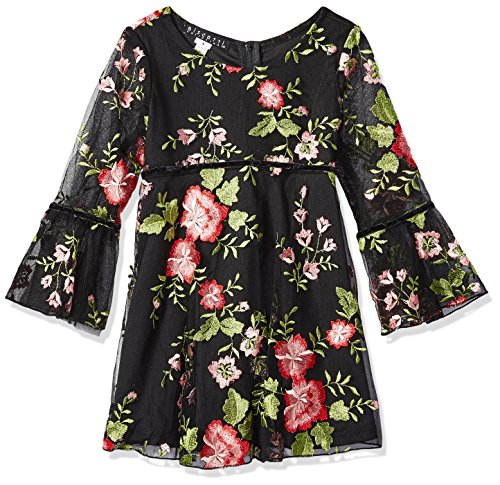 Biscotti Big Girls Midnight Garden Embroidered Dress, black, 12