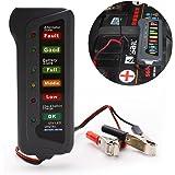 Yunshangauto® 12V Digital Alternateur Testeur Batterie Avec 6 LED Lumineux Indiquent l'état du Véhicule Outil Diagnostique Pour Voiture Moto Camion