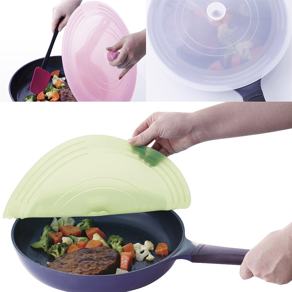 sillymann silicon frying pan green cover JY-WSK357-G (japan import)
