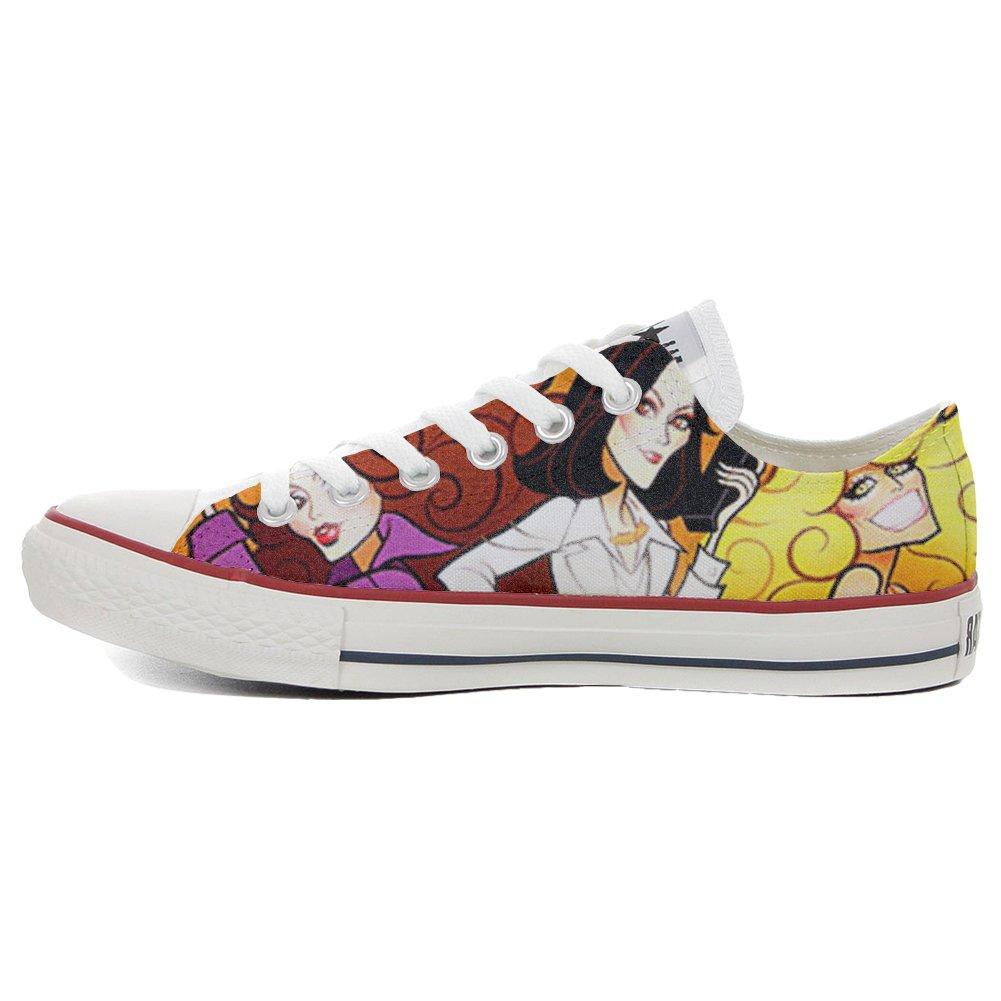 Converse Converse Converse Personalizzate all Star Slim scarpe da ginnastica Unisex Scarpe Unisex (Prodotto Artigianale) Slim Charlies Angel's cd5467
