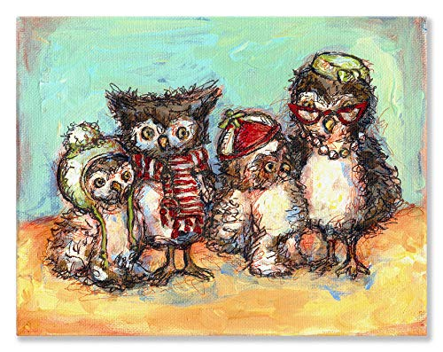 Oopsy Daisy Canvas Wall Art, Owl Family Photo, 18