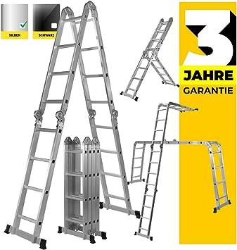 Craft Worx aluminio escalera multifunción 6 en 1 Articulación Escalera multiusos Escalera Articulación – Escalera escalera 16 peldaños 475 cm longitud total: Amazon.es: Bricolaje y herramientas