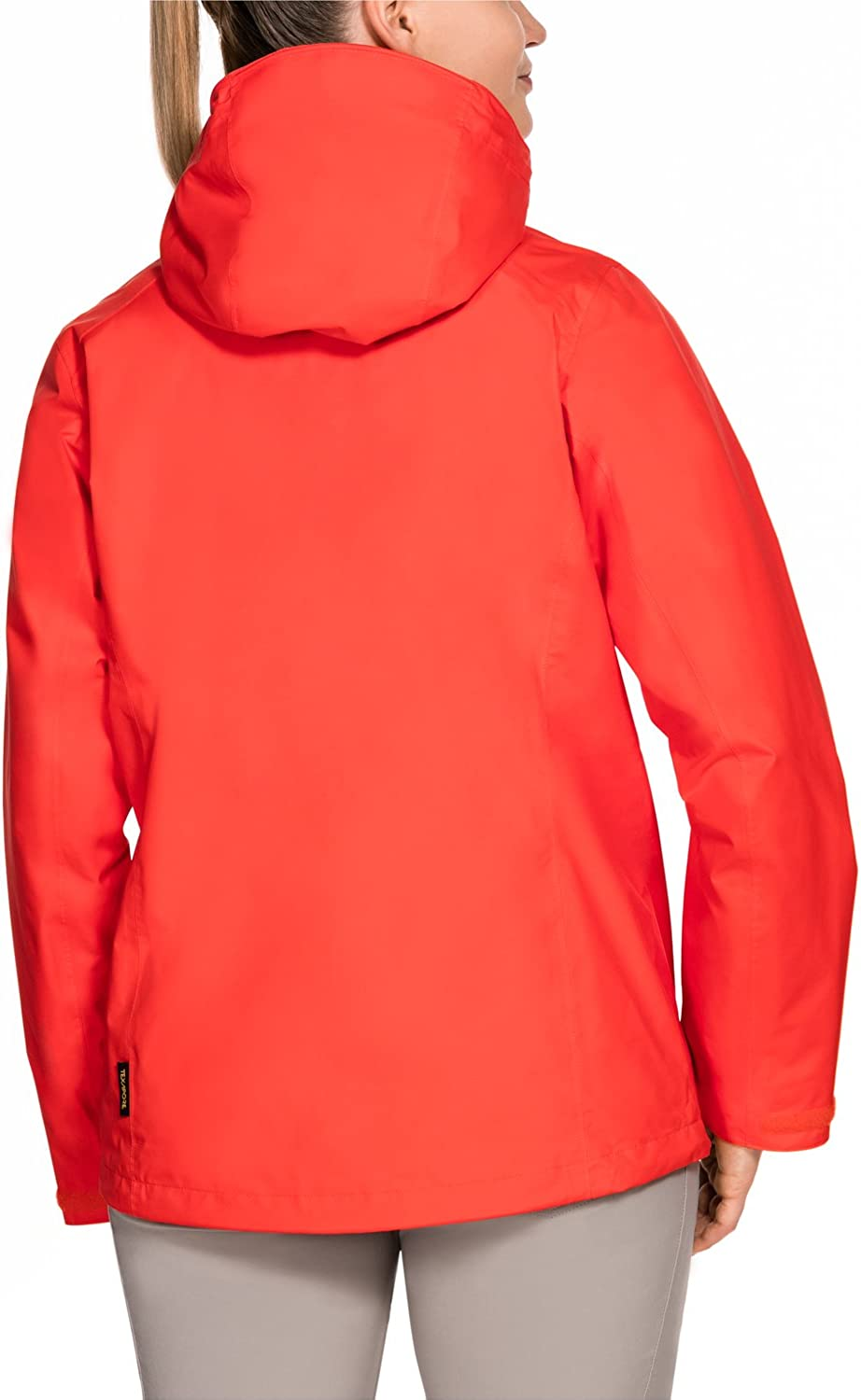 Jack Wolfskin Women's Seven Lakes Weather Protection Jacket lobster red