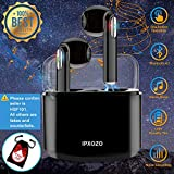 x mini bluetooth - Wireless Earbuds,Bluetooth Earbuds Stereo Wireless Headphones Mini Wireless Earbuds with Microphone in Ear Earphones Sports Earpieces Compatible iPhone X 8 Plus 7 6 iOS Samsung Android Phones (Black)