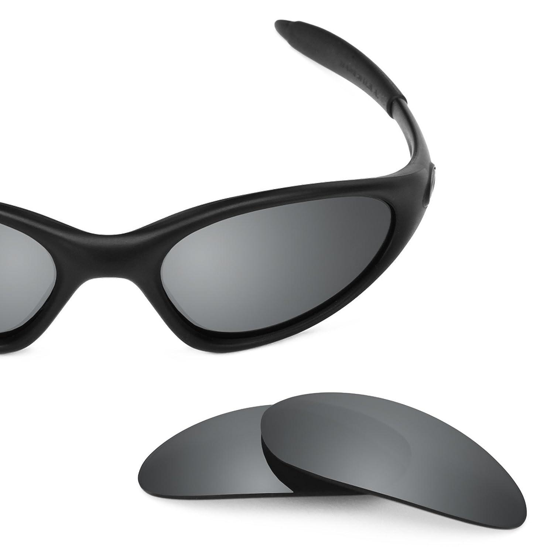 a82db5e7bf5 Amazon.com  Revant Polarized Replacement Lenses for Oakley Minute 1.0 Elite  Black Chrome MirrorShield  Sports   Outdoors
