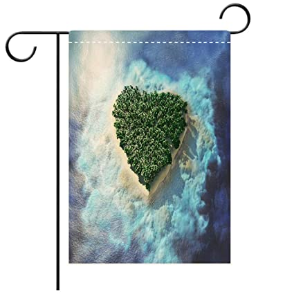 Amazoncom Beicici Garden Flag Double Sided Decorative Flags Heart