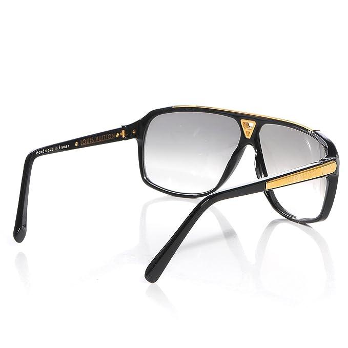 Louis Vuitton pruebas negro gafas de sol z0350 W: Amazon.es ...