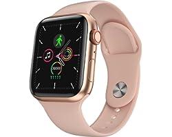 Relógio SmartWatch IWO I8pro 44mm série6 Anuncio Oficial (Rosa)