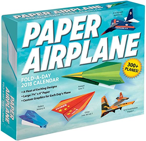 Paper Airplane Fold-a-Day 2018 Calendar