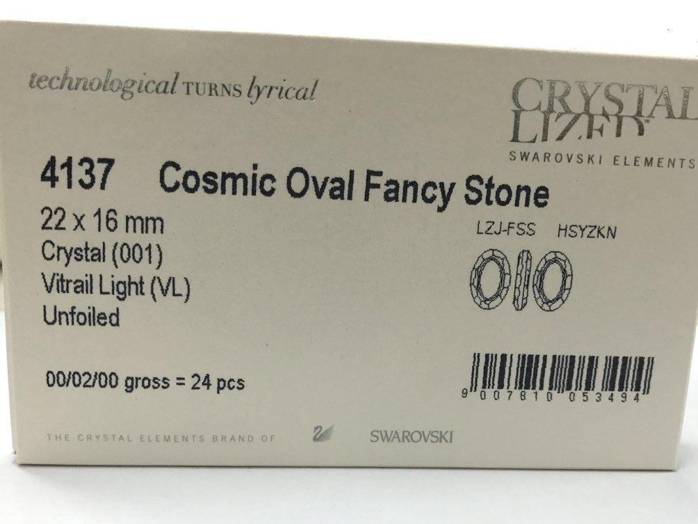 Wholesale Swarovski 4137 Cosmic Oval Fancy Stones Factory Pack (24 pcs) Vitrail Light