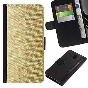 Be Good Phone Accessory // Caso del tirón Billetera de Cuero Titular de la tarjeta Carcasa Funda de Protección para Samsung Galaxy Note 3 III N9000 N9002 N9005 // chevron gold leaf pattern wallpaper
