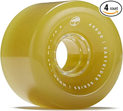 Orange 69mm 78a Arbor Skateboards Arbor Outlook Easyrider Longboard Wheels