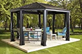 SOJAG KOMODO – 12′ x 18′ with galvanized steel roof, mesh net and decorative fences