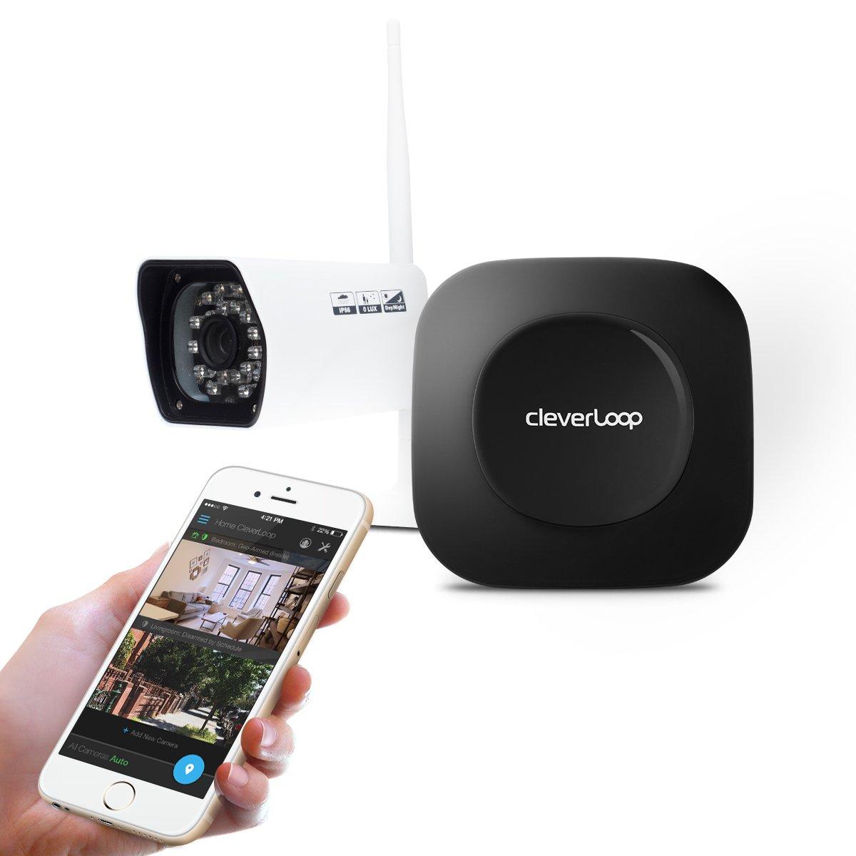 CleverLoop WiFi surveillance système de sécurité avec 1 HD- caméra extérieure